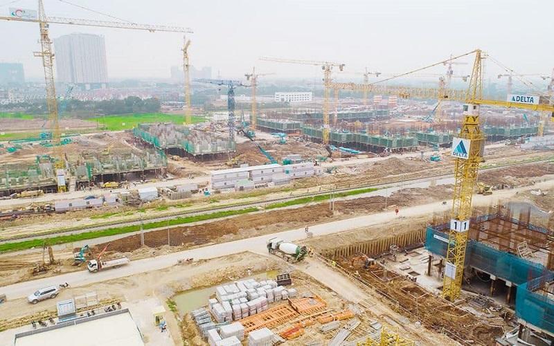 tiến độ dự án vinhomes smart city đang được đẩy mạnh